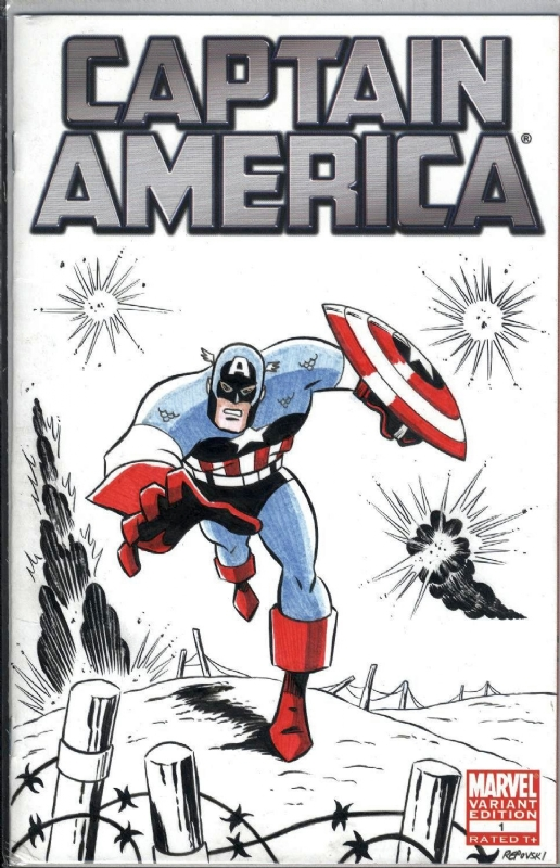 captain america sketch cover by peter repovski with colors by jeff