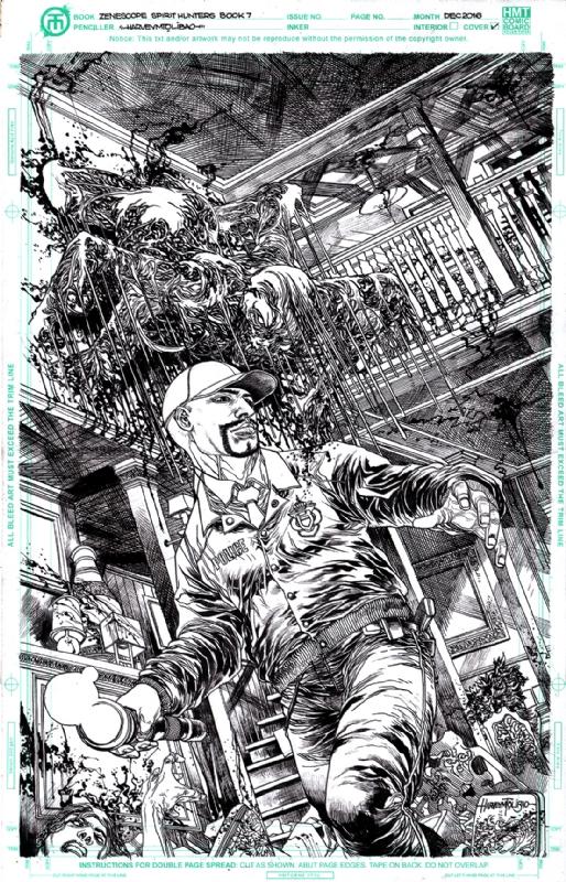 Spirit Hunters #7A, in harvey tolibao's ZENESCOPE COVERS Comic Art