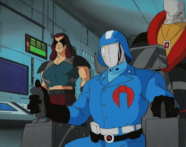 Cobra Commander Zartan And Destro Animation Cel From Gi