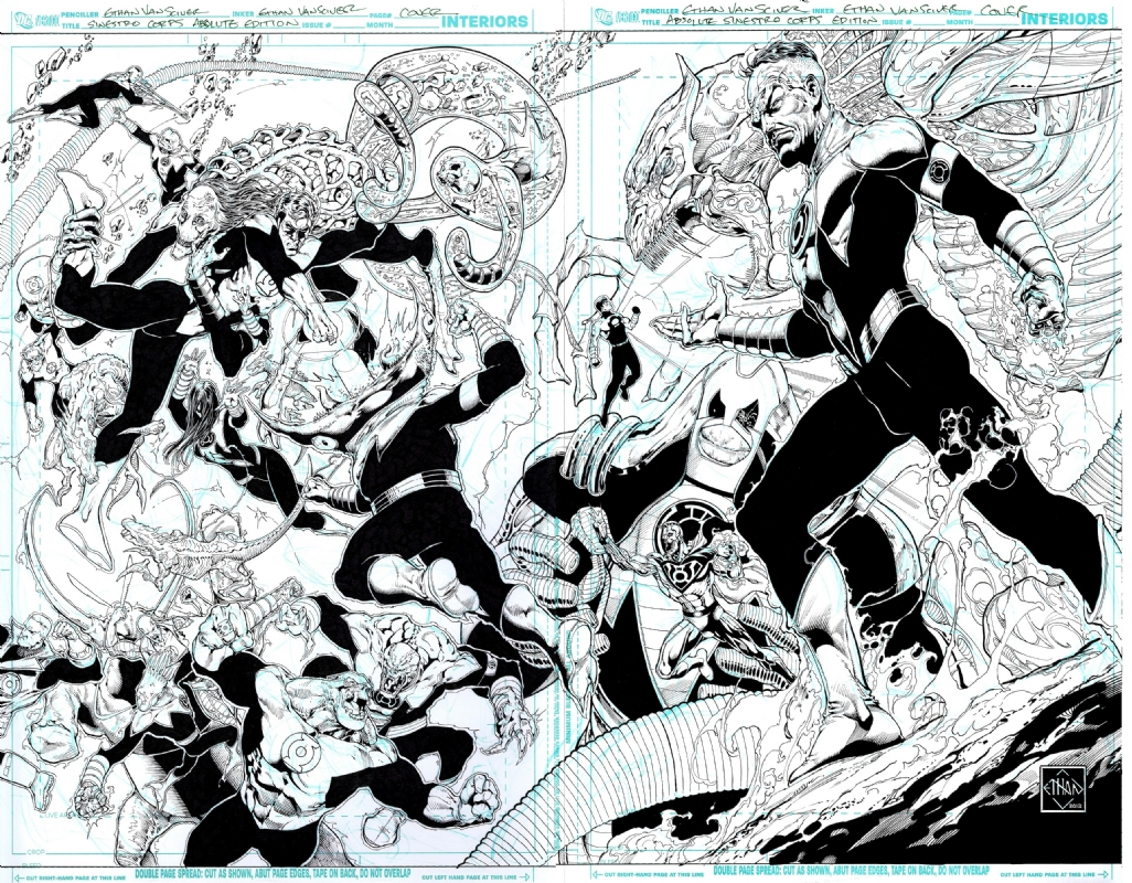 ethan van sciver absolute green lantern sinestro corps war cover