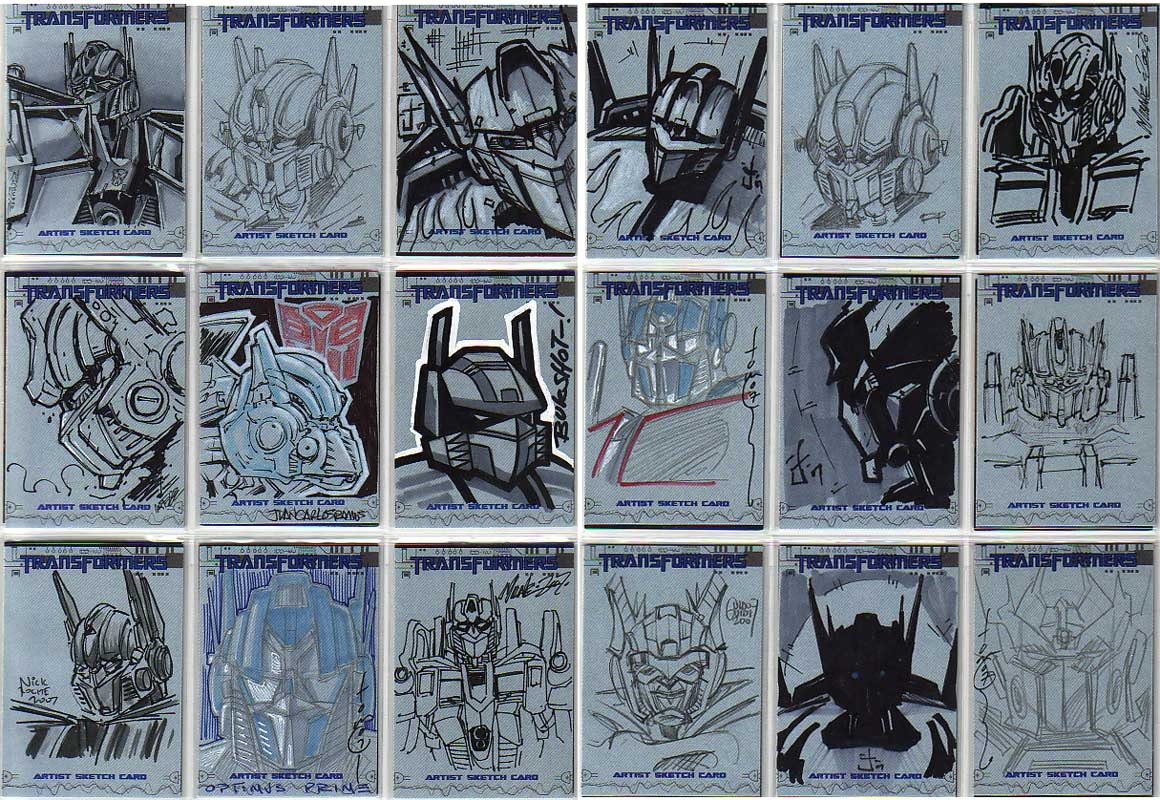 transformers the movie optimus prime sketch cards topps 2007 in Transformers Megatronus Prime transformers the movie optimus prime sketch cards topps 2007 ic art
