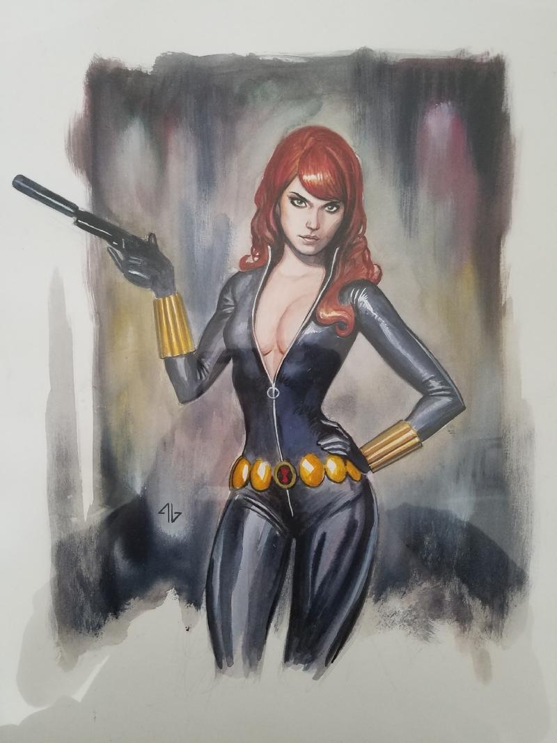 Adi Granov -- Black Widow Comic Art