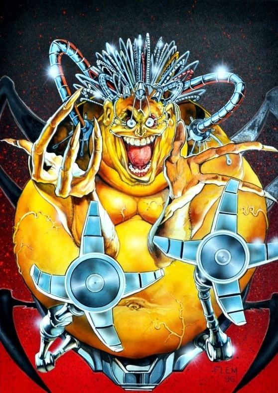 Mojo - Tom Fleming - X-Men Ultra '96 Trading Card Art, in