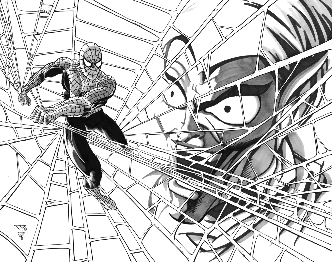 spider man and the green goblin in charles yoakum s missioned Iron Fist Marvel Mashers spider man and the green goblin ic art