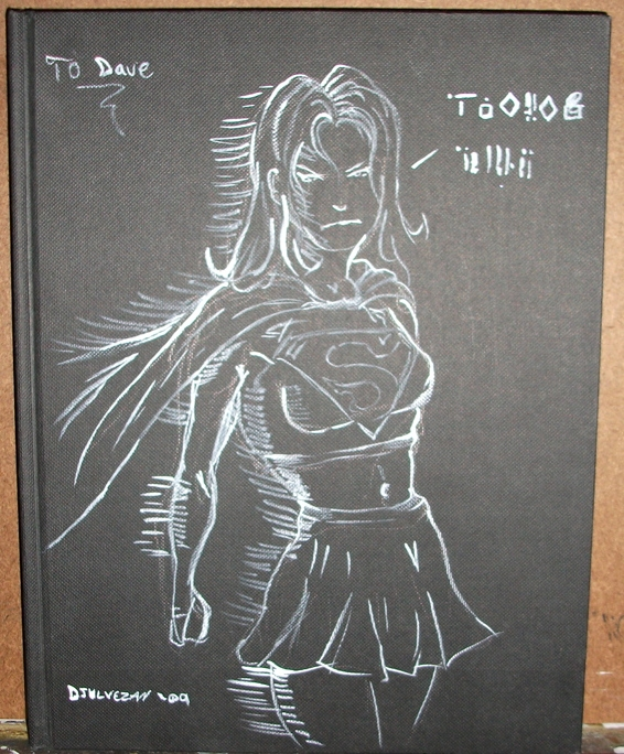 Supergirl Personalized 100 Page Sketchbook Front Cover By