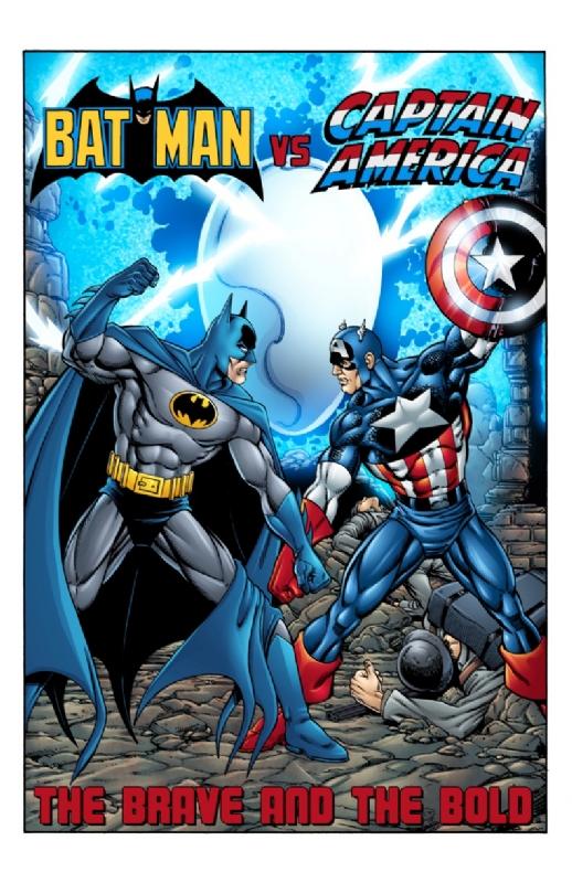 batman vs captain america fc in mitch ballard s mlbart 63 comic