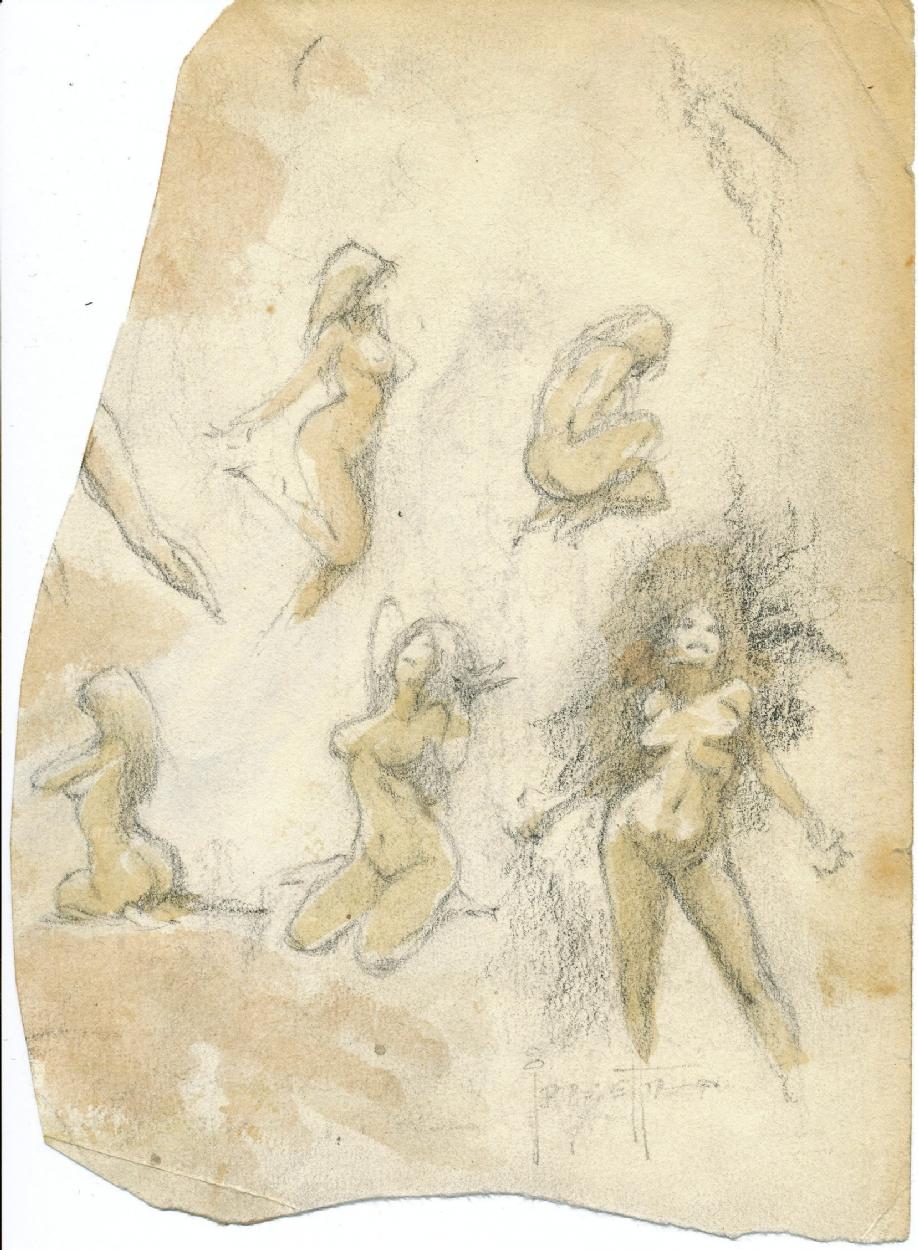 Frazetta Torture Garden Prelim Nudes In Alex K S Babes
