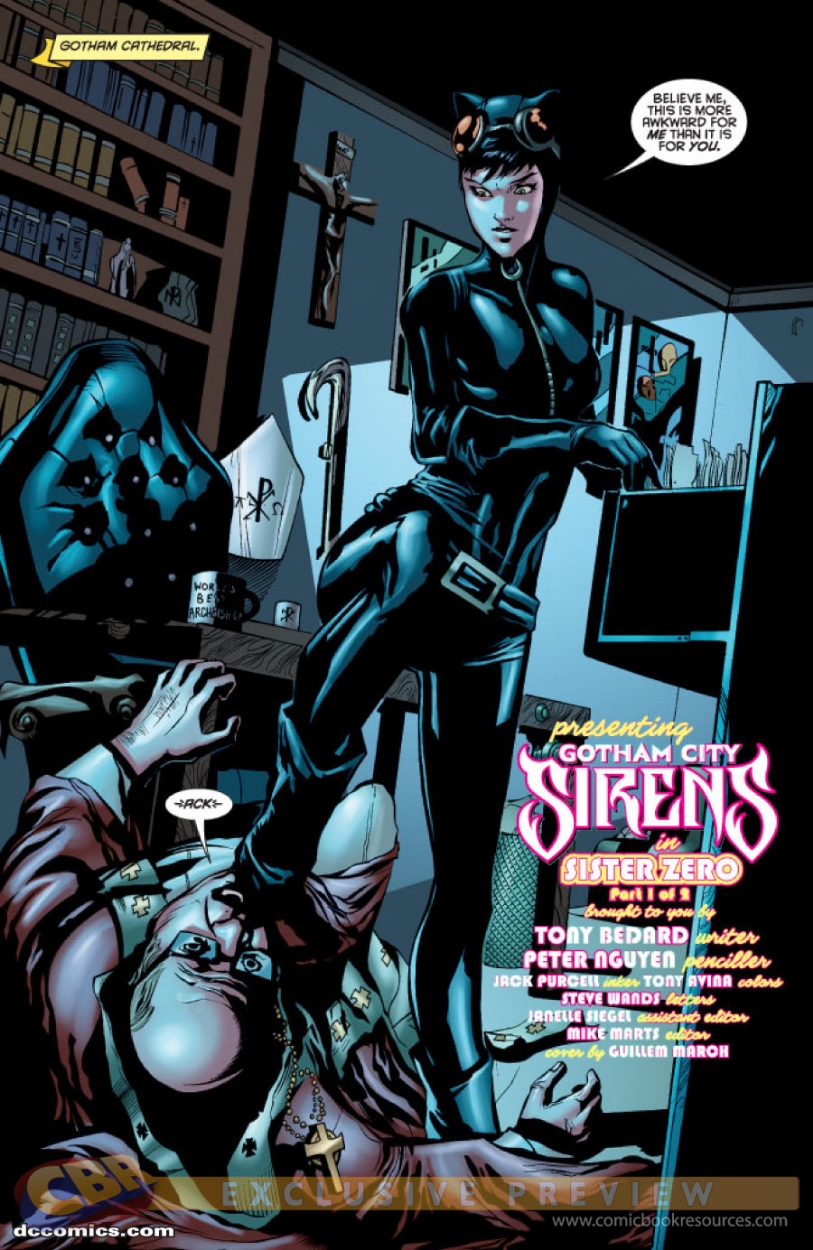 gotham sirens 12 page 1 featuring catwoman by peter nguyen color
