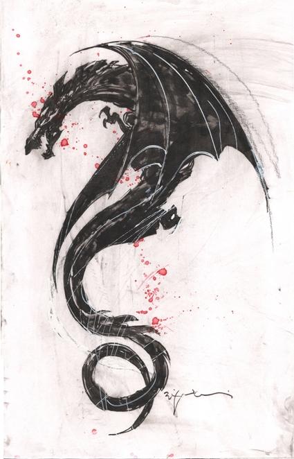 c012db8fe The girl with the dragon tattoo commission prelim - Bill Sienkiewicz ...