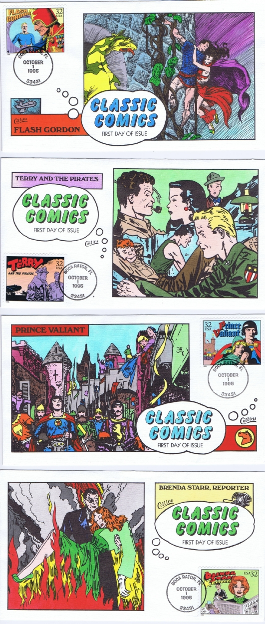 USPS Classic Comic Strip First Day covers, in Jeff Singh's