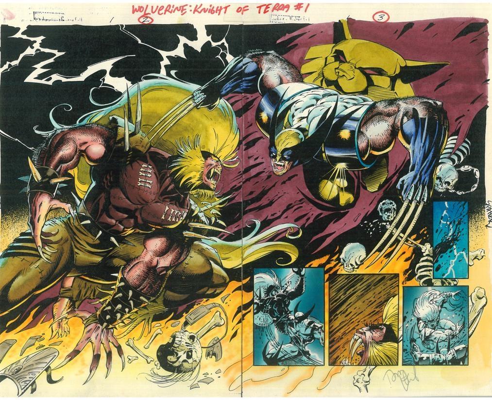 Wolverine Vs Sabretoothknight Of Terra In Gregg Kopsas Color