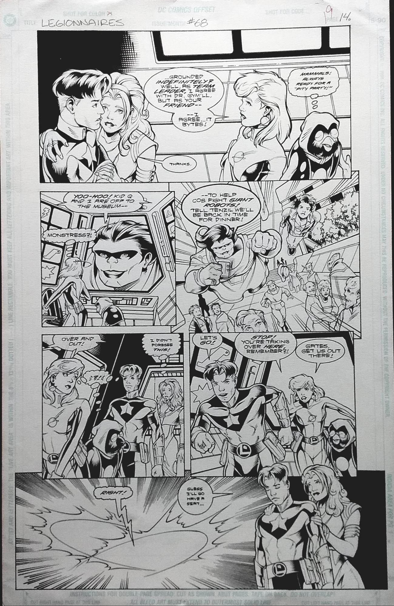 Legionnaires #68 (1998) Star Boy, Saturn Girl, Monstress, in