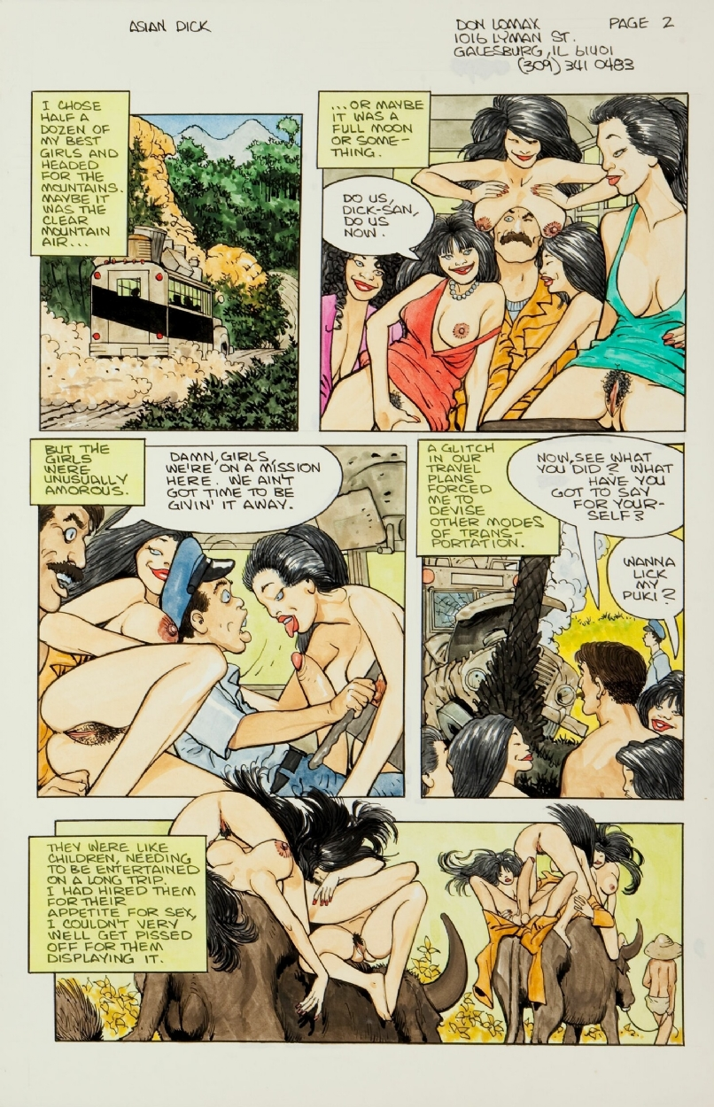 Asian Dick Thars Gold Pg  In Craig Macmillans  Panel Pages Don Lomax Comic Art Gallery Room