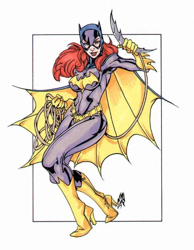batgirl by dan campos in dane ault s collection comic art gallery room