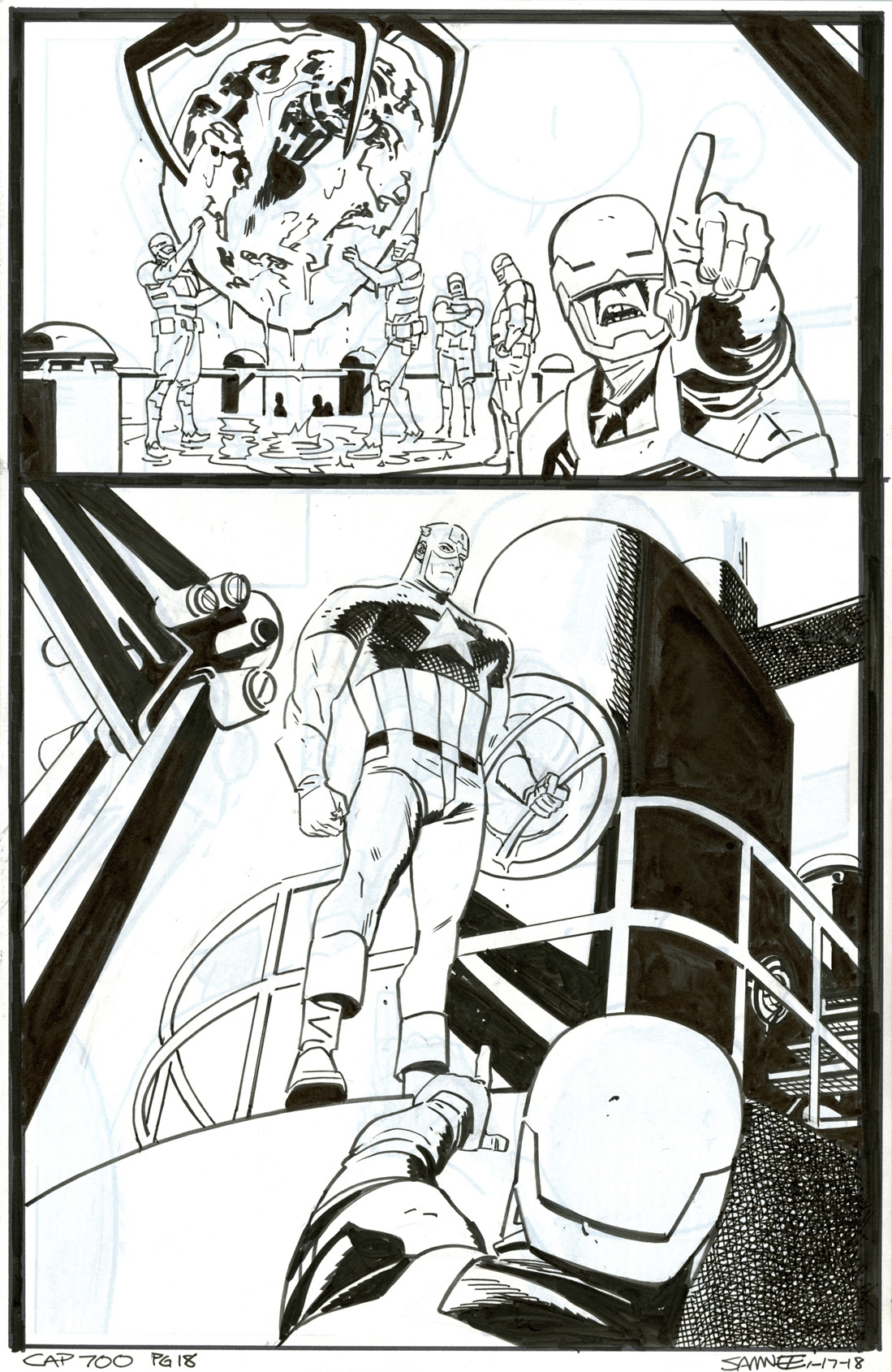 captain america 700 page 18 by chris samnee in brendon and brian Star Wars Hero Mashers hot auctions