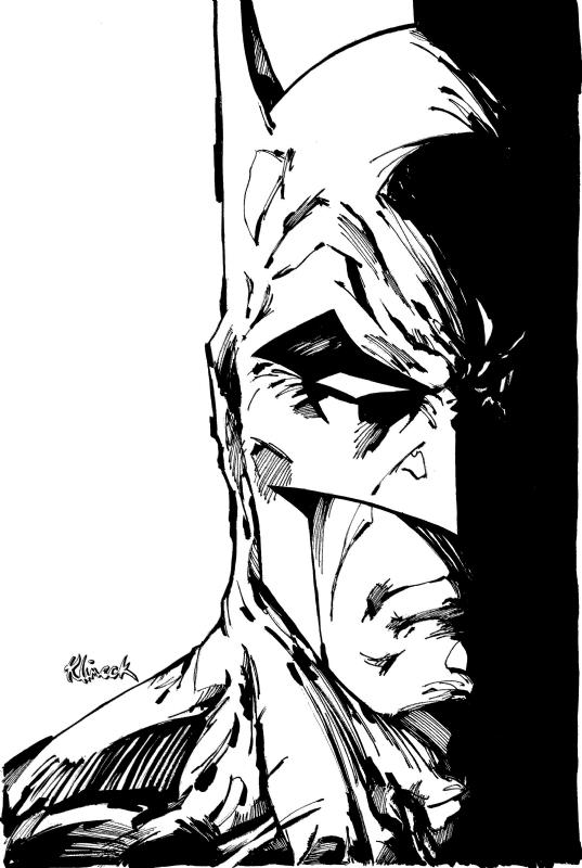 batman close up comic art