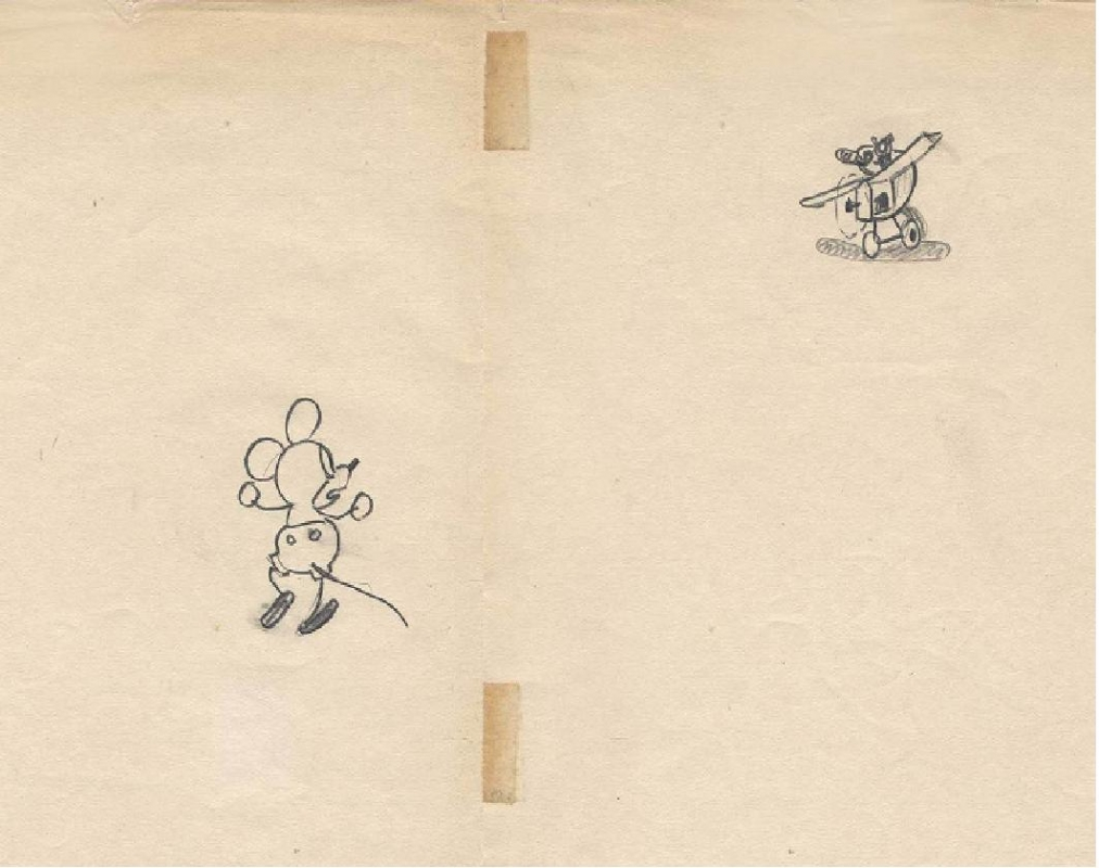 Disney Plane Crazy Original Animation Drawing Of Mickey By Ub