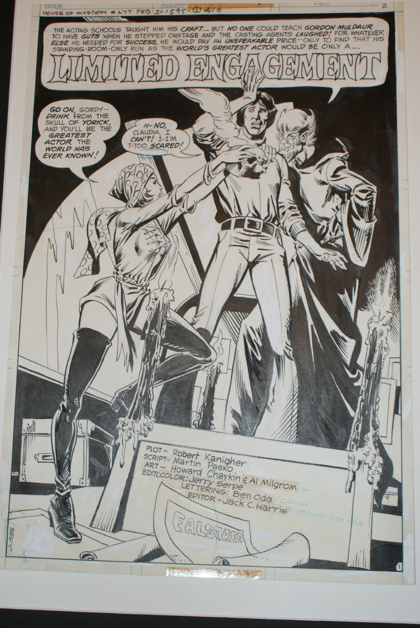 COMICLINK auction for Bronze Age art in House of Mystery
