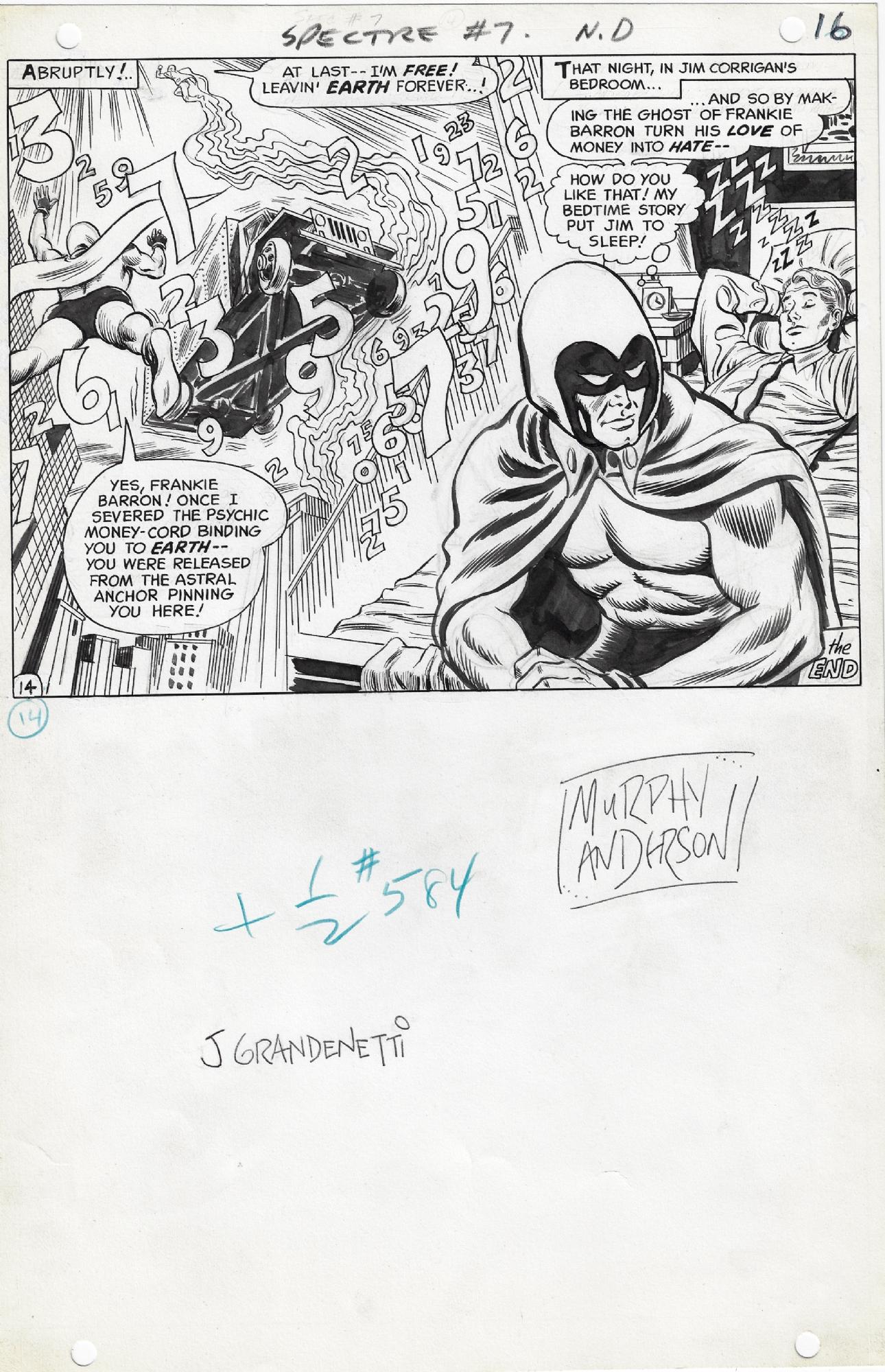 The Spectre #7 pg.16 (1968) Comic Art