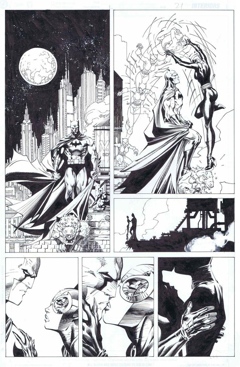 Batman Hush 1st Catwoman Kiss 610p21 Jim Lee In Alex Bs My