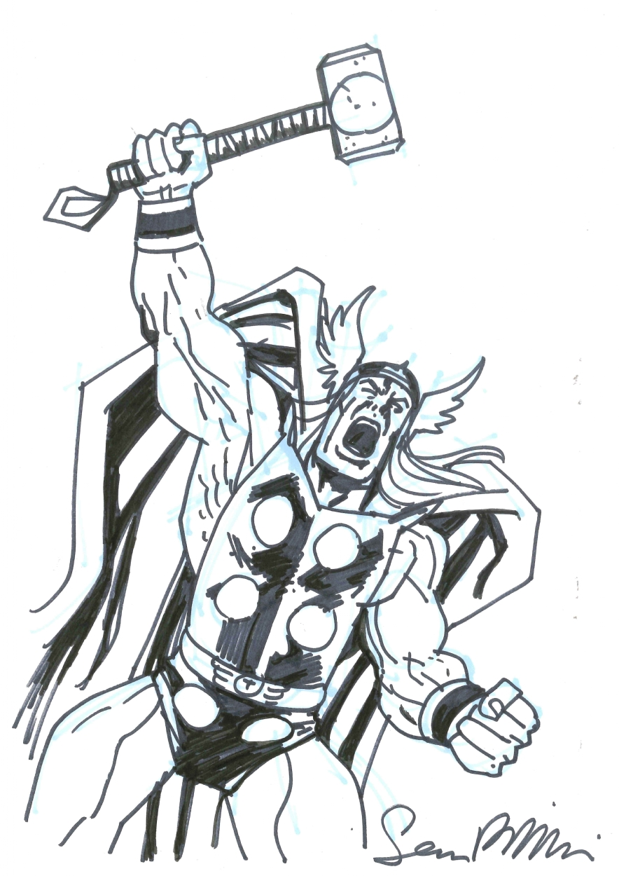 Thor Sean Phillips In Oscar Lozano S Sketches Comission S From