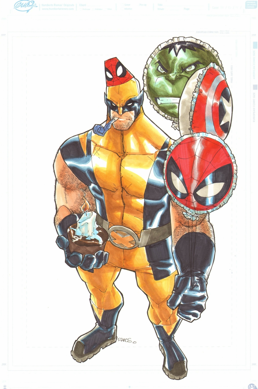 wolverine birthday Humberto Ramos' Wolverine Happy Birthday!, in Chad Garrett's Ramos  wolverine birthday