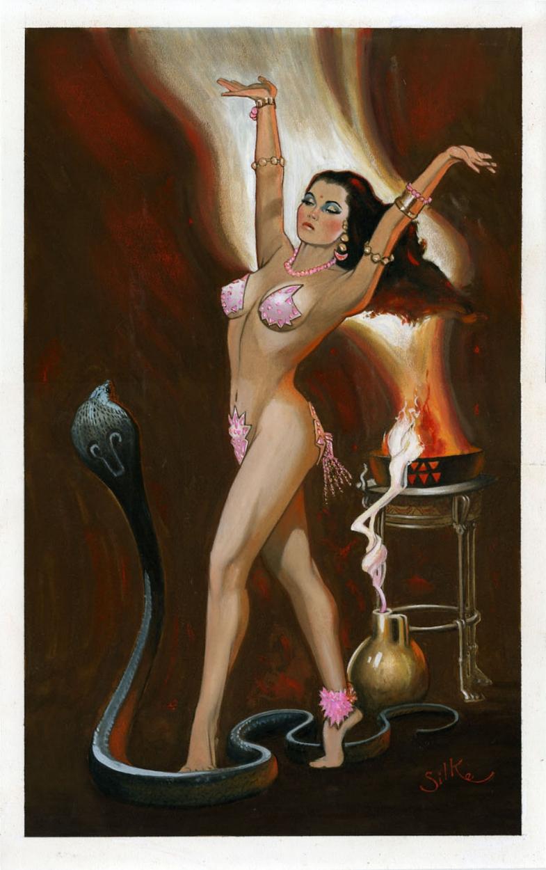 Jim Silke - Debra Paget - The Indian Tomb - Snake Dance -9816