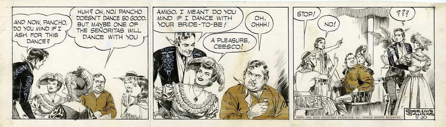 Jose Luis Salinas Cisco Kid 5 20 52 Comic Art