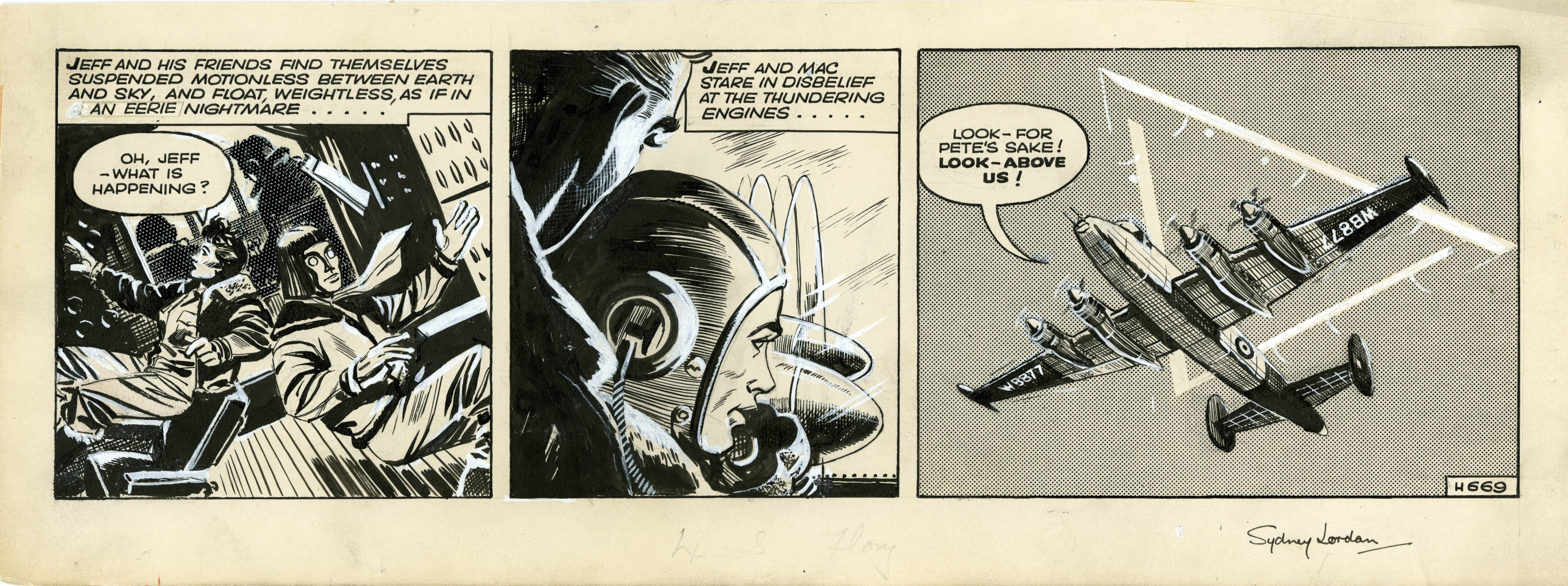 Jeff Hawke Daily 669 - 1956 Comic Art