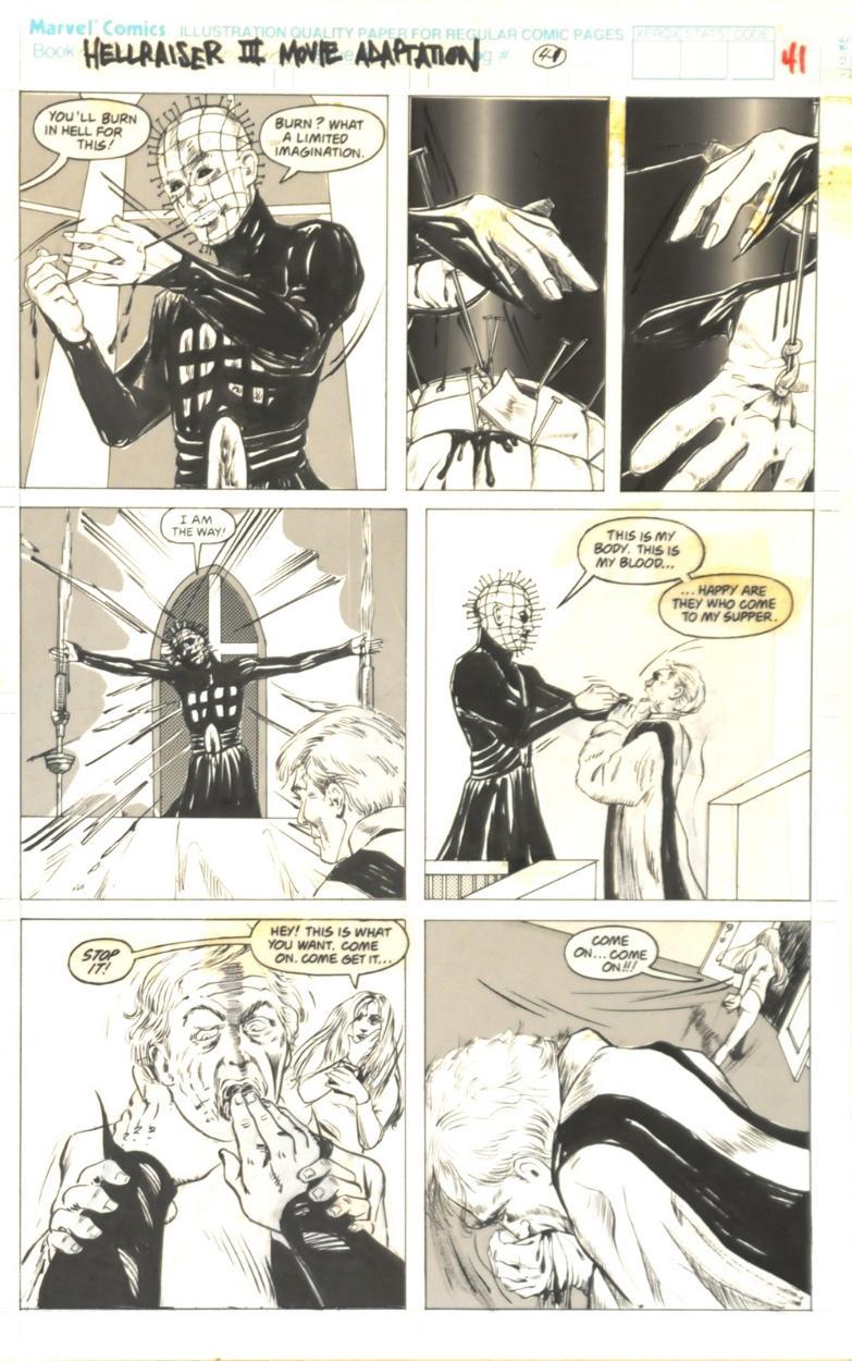 miran kim original published art hellraiser pg 41 pinhead vs