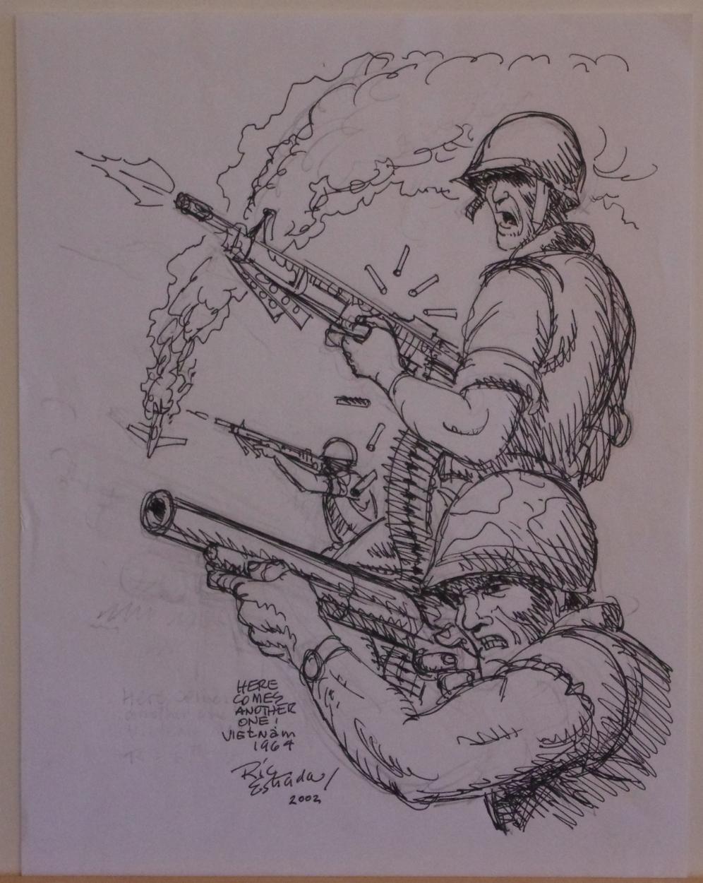 Drawing Vietnam War Art