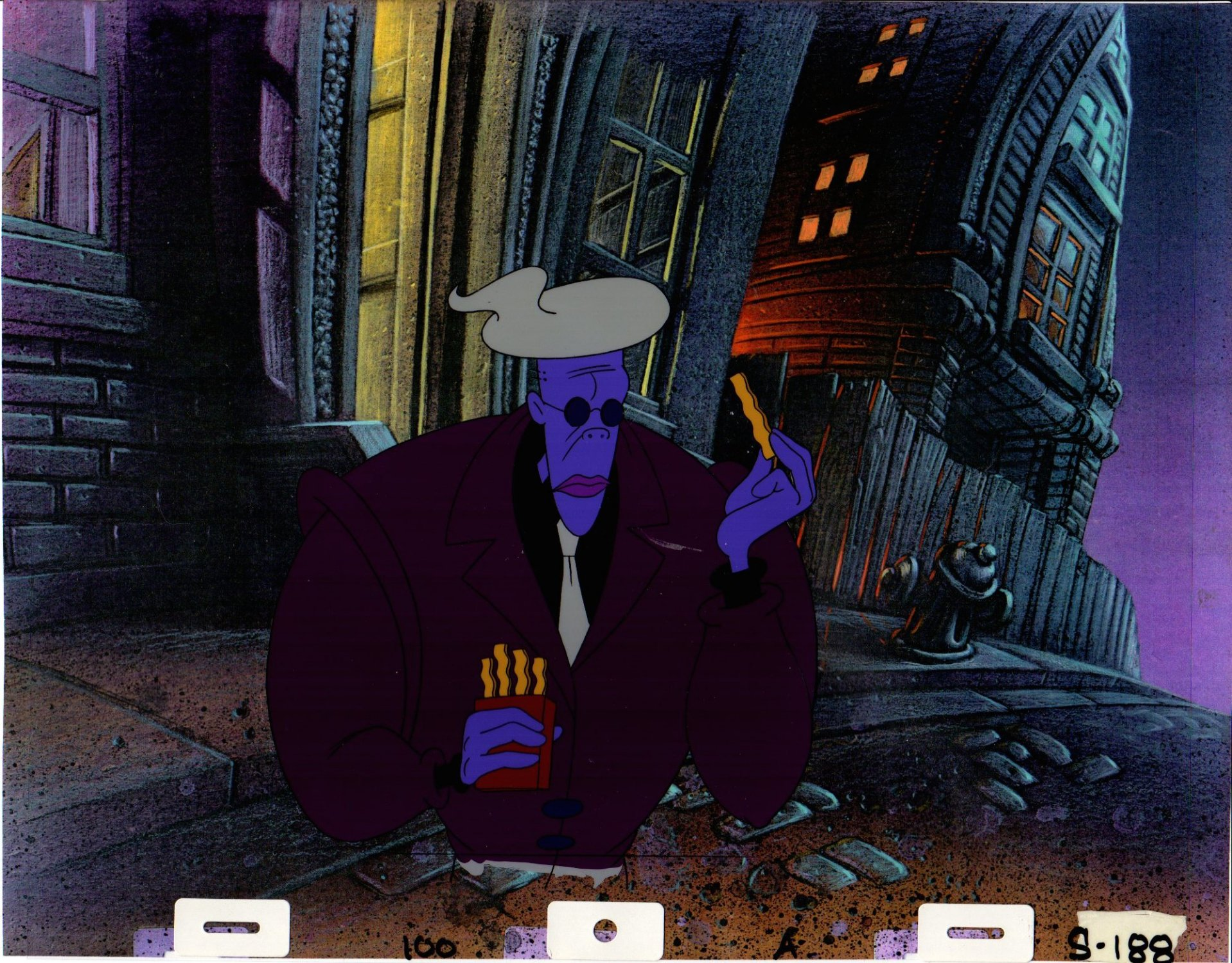 Bakshi Cool World Animation Cell B With Color Copy