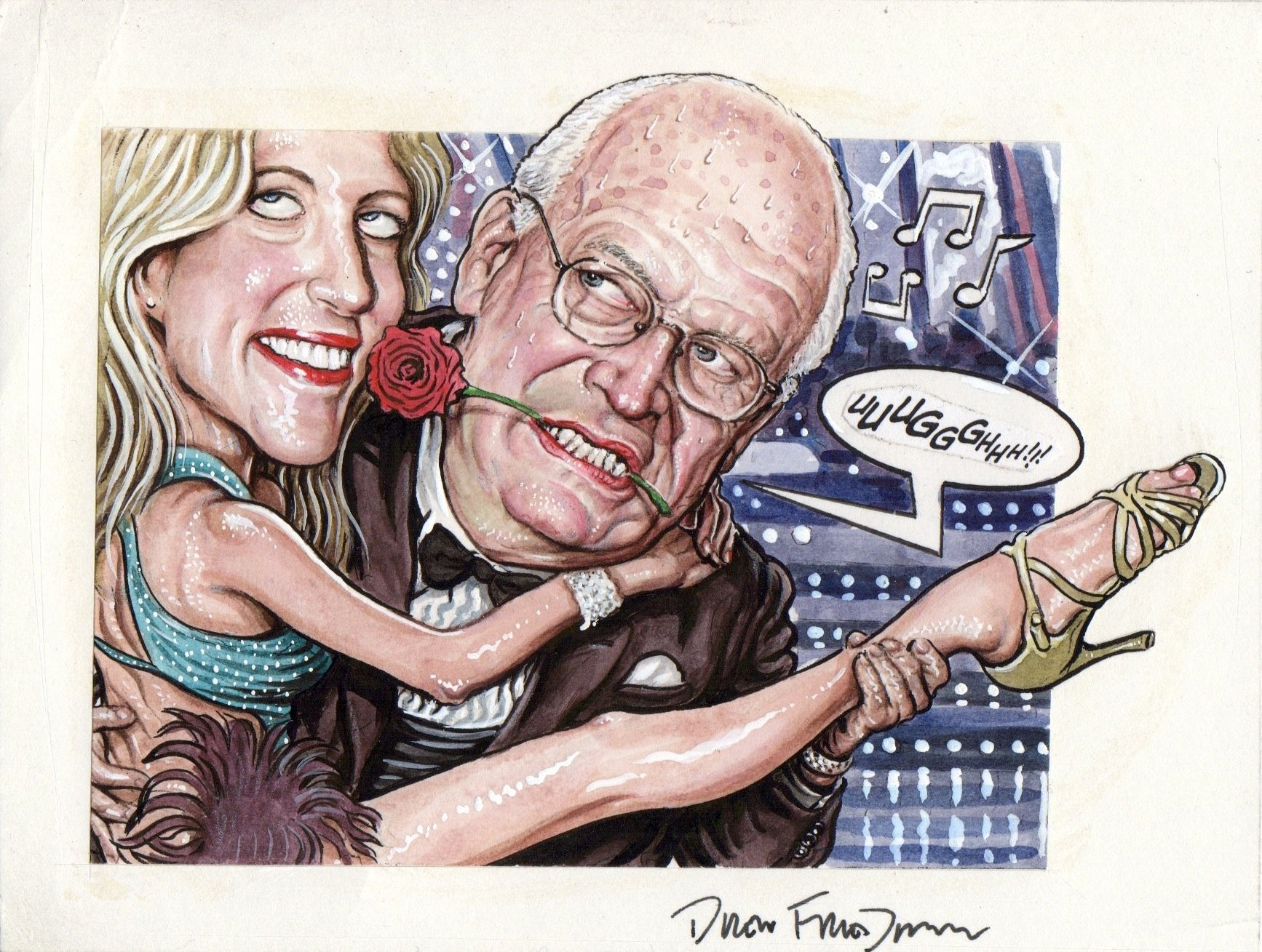 FRIEDMAN, DREW - Lampoon / Spy Magazine - Dick Cheney & Ann Coulter:  Dancing with Stars