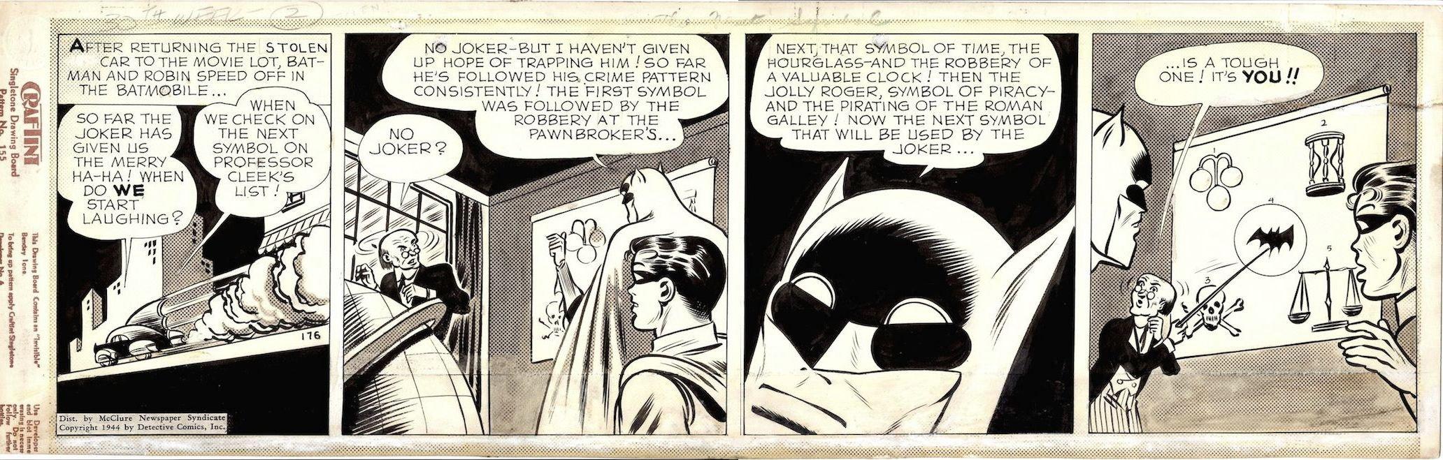 KANE, BOB / CHARLES PARIS - Batman daily 1944, Batman