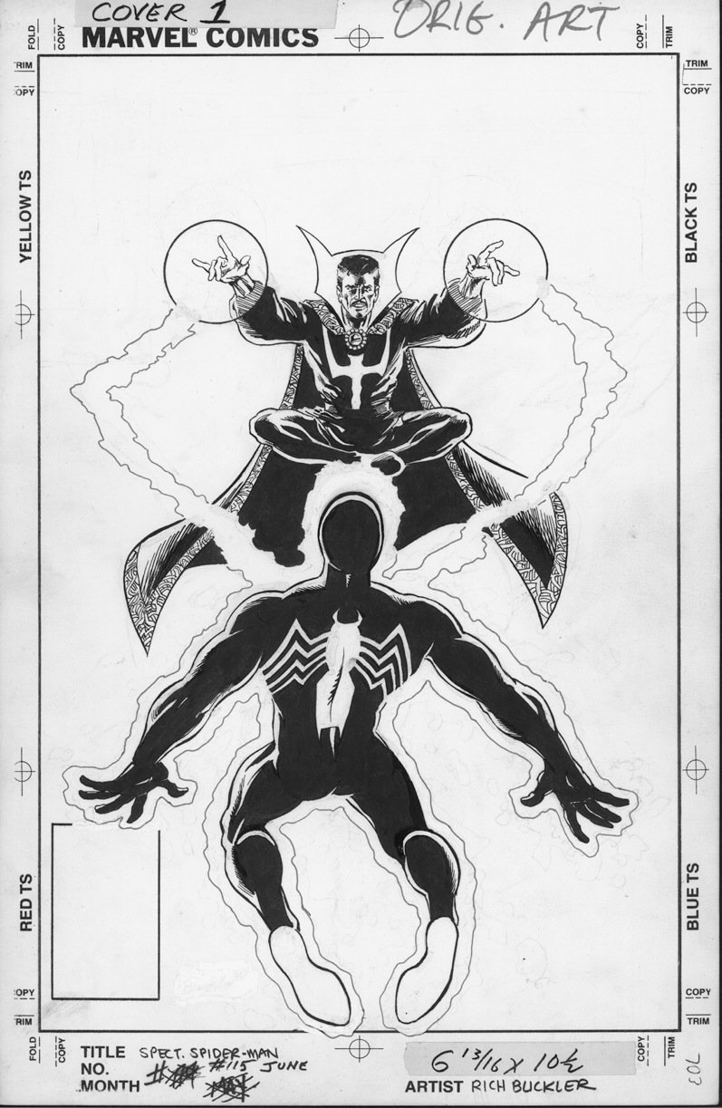 BUCKLER, RICH - Spectacular Spiderman #115 cover, Black