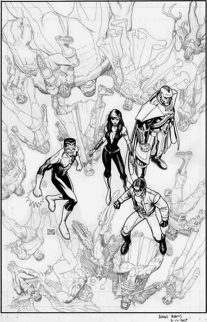 ADAMS, ART - Countdown: Ray Palmer #1 DC cover- Green Lanterm, Troia
