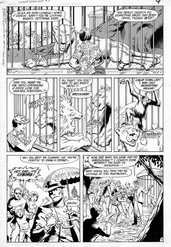 JURGENS, DAN - Titans Spotlight #9 pg 7 (Doom Patrol), in