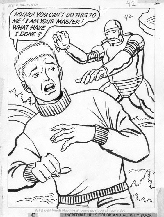 Hulk - Marvel / Western coloring book pg 42, Marvel artist ...