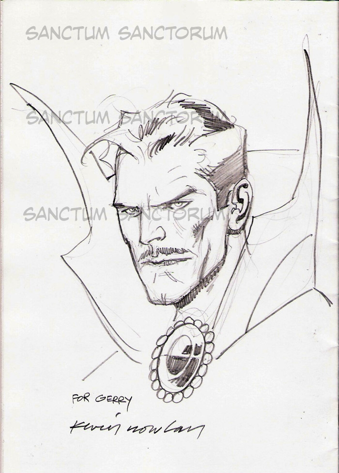 Kevin Nowlan Dr Strange Sketch In Gerry Turnbull S Kevin