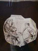 ROY D'AMY - MANI IN ALTO n.17 Sacrificio Supremo, cover 1949 Comic Art