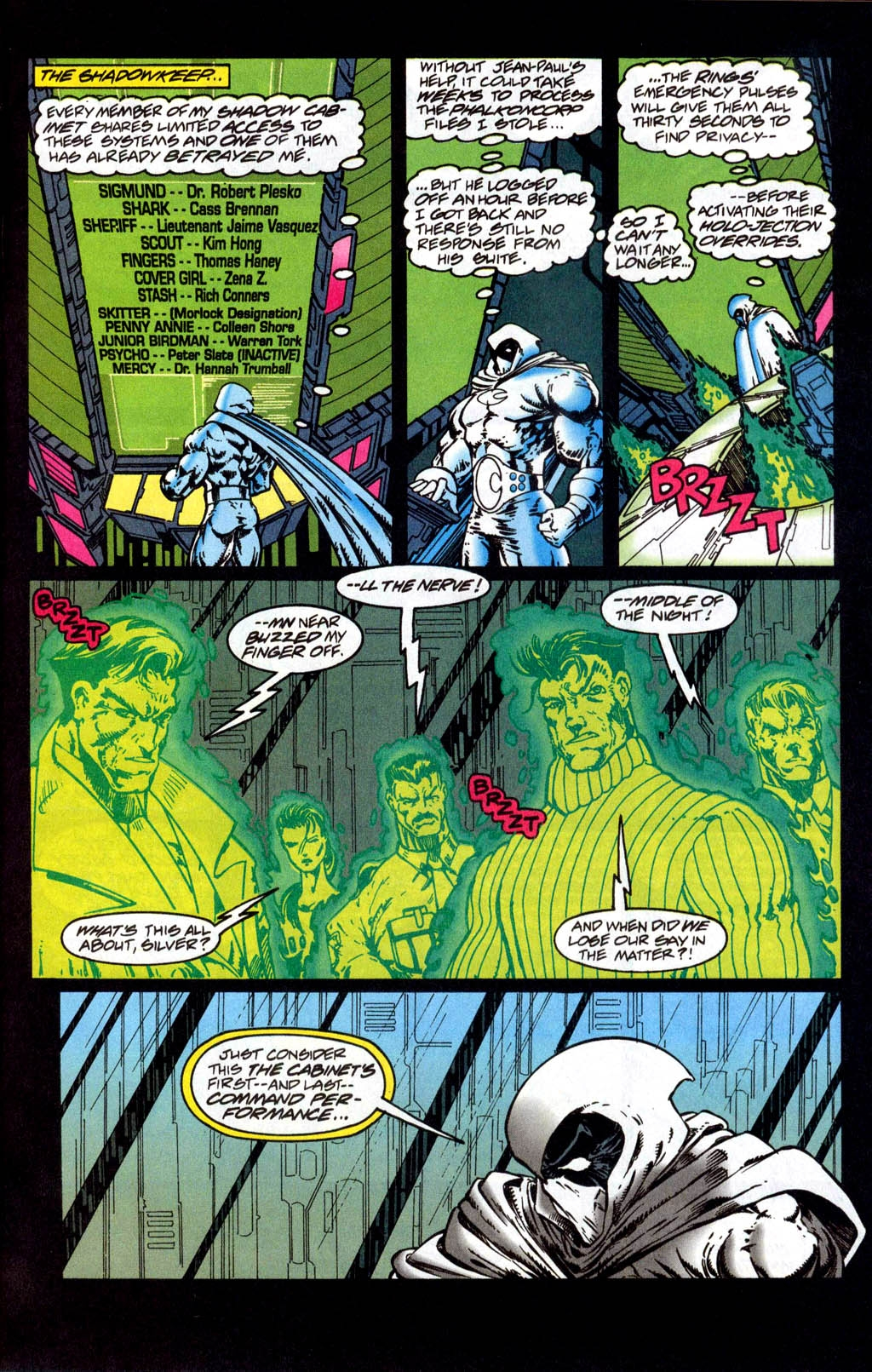 Marc Spector: Moon Knight (1989) #56 page 9, in Erik