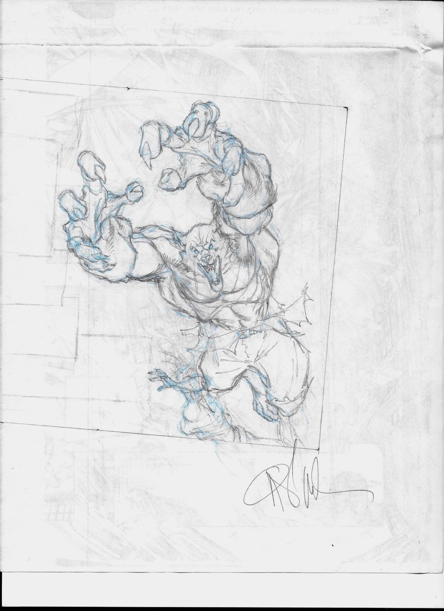 Man-Wolf vs Mary Jane (Spider-Man) prelim , in Erik Essington's For