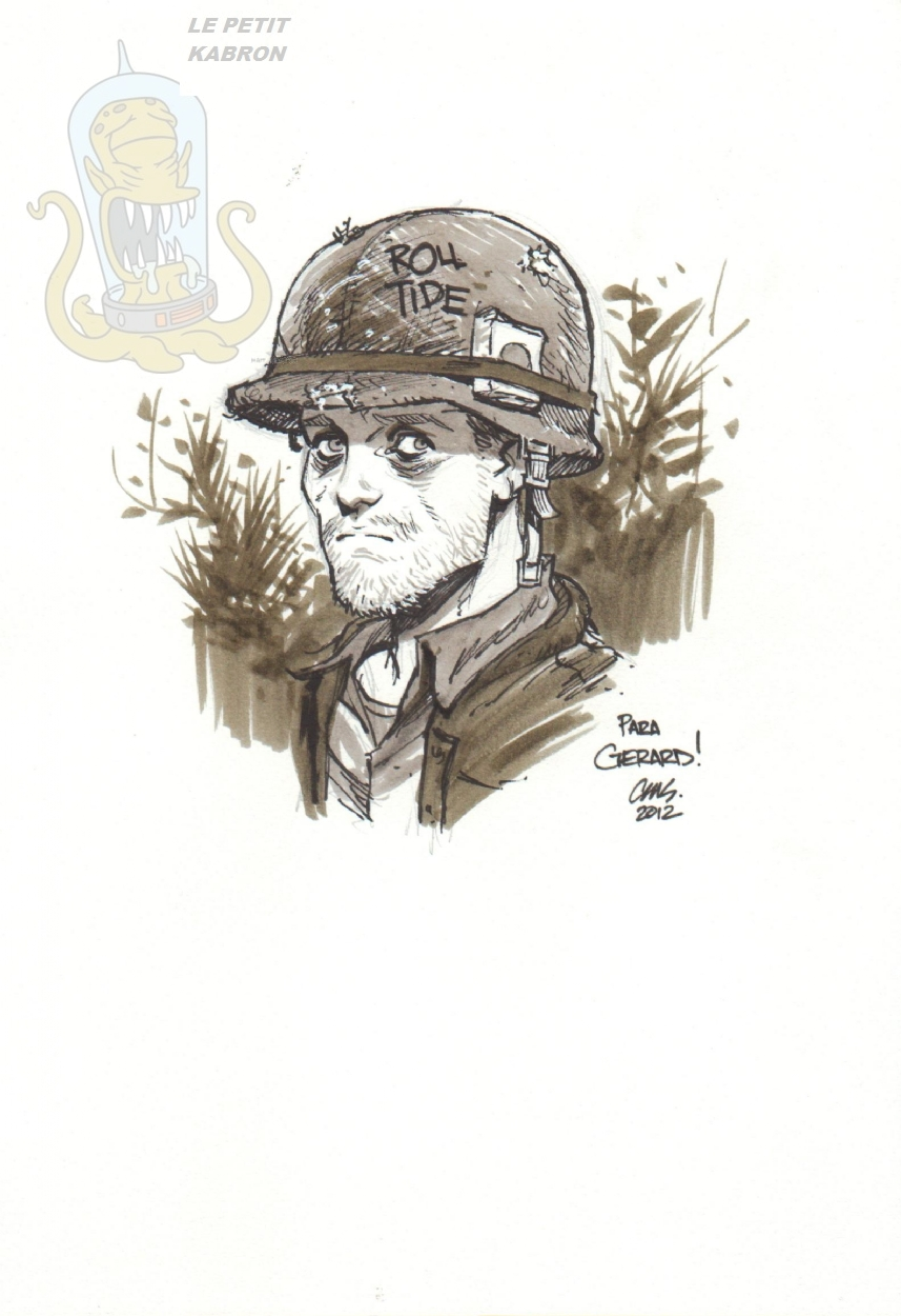 American Soldier Bill Everette The Other Side Sketch By Cameron
