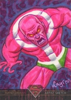 Superman Parasite >> Superman The Legend Sketch Card Parasite In Layron