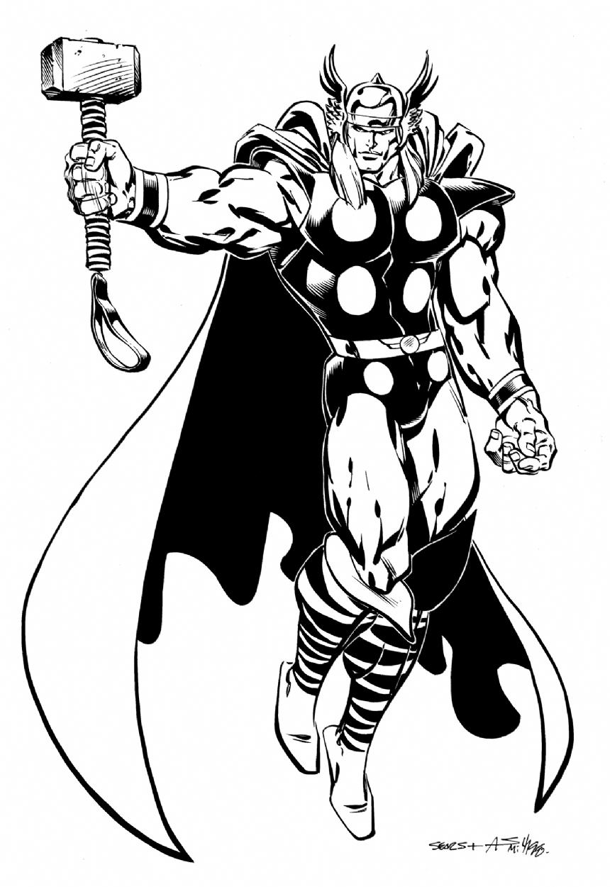 Thor by bart sears in phil maynards bart sears comic art
