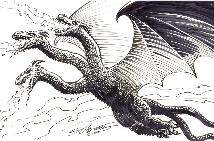 king ghidorah drawings www