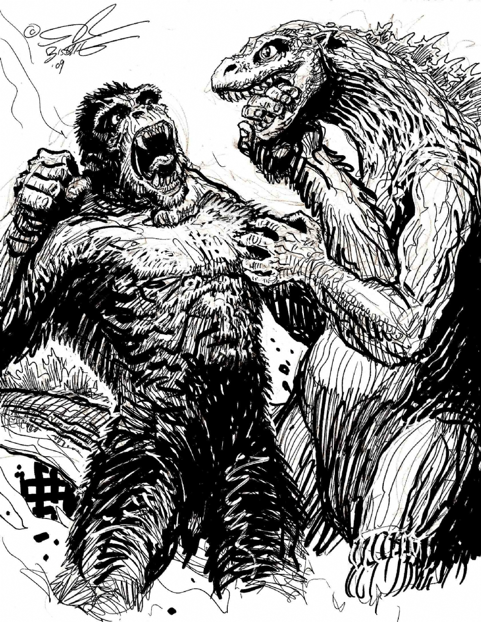 King Kong vs. Godzilla -- Another Sketch!, in Stephen ...