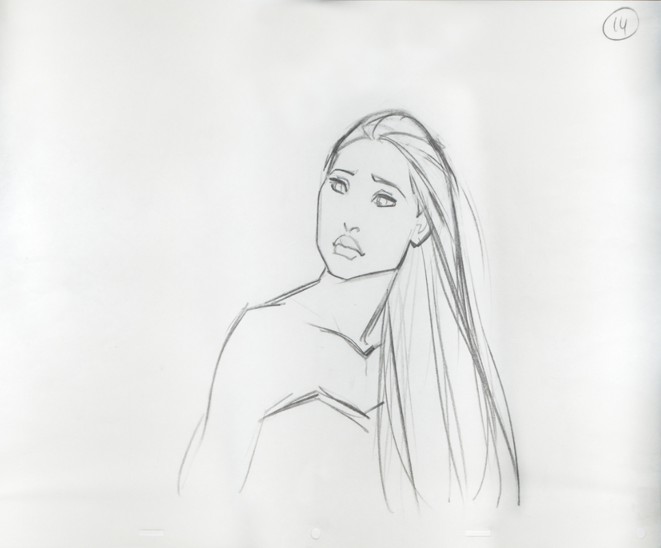disney pocahontas original production drawing in avi blyer s