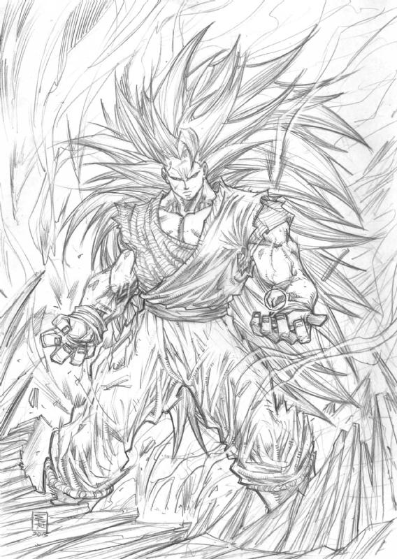 Goku Super Saiyan 3 In William Allan Reyes S Tight Pencils