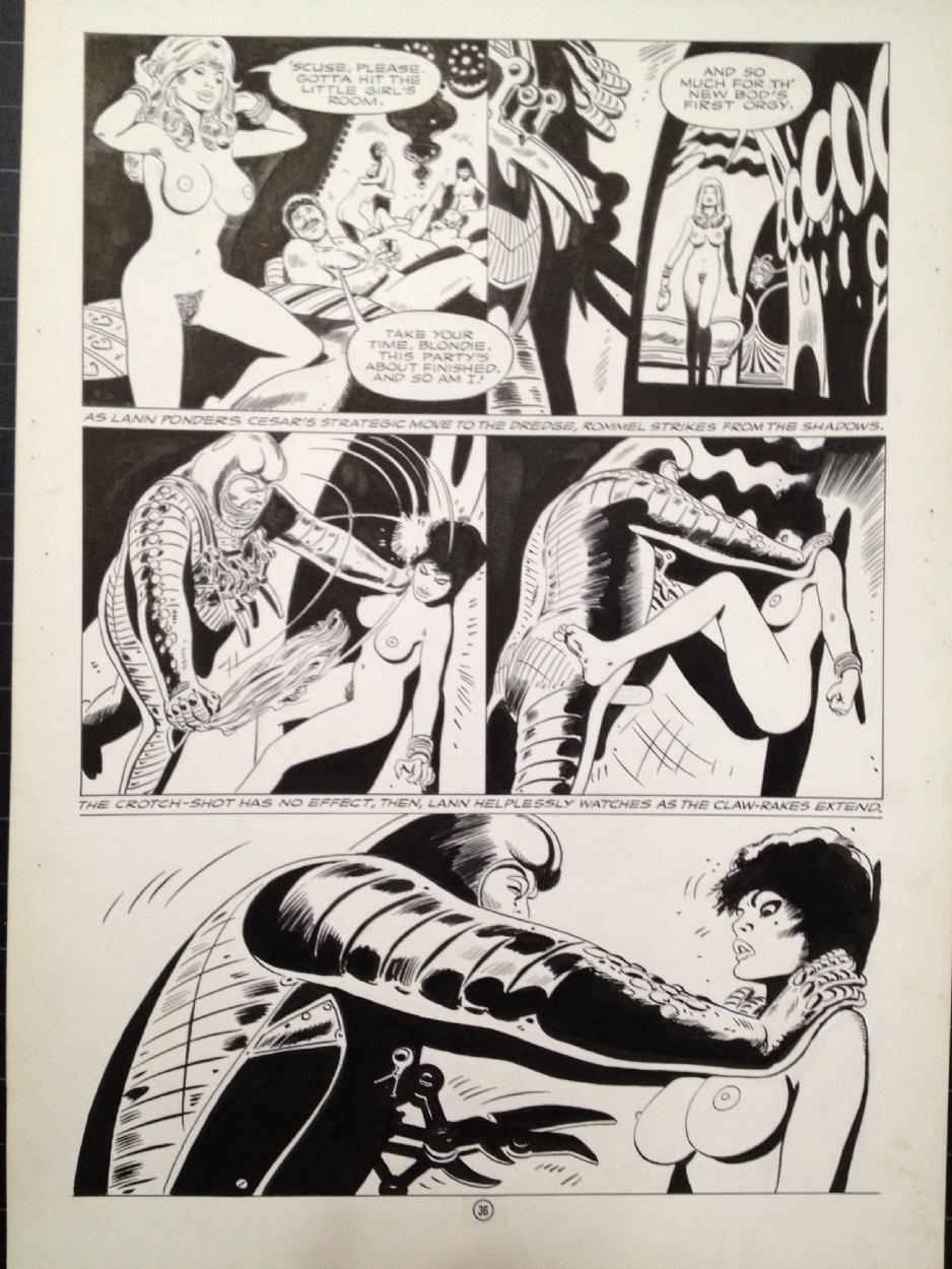 American Erotic Comics lann - pg. 36 [adult], in mark yanko's frank thorne comic